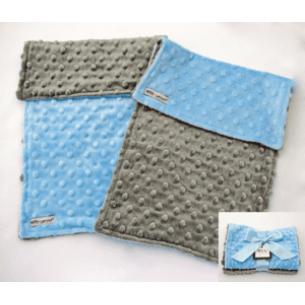 Baby Boy Blue & Gray Minky Dot Burp Cloth Gift Set