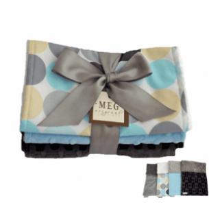 Baby Boy Disco Dot Burp Cloth Gift Set