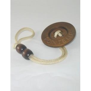 Beige Button Pacifier Holder Clip