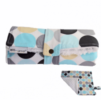 Blu & Gray Disco Dot Travel Changing Pad