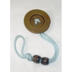 Blue Button Pacifier Holder Clip