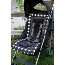 Booyah Baby Black Round & Round Stroller Liner
