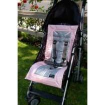 Booyah Baby Pink Metallic Dot Stroller Liner