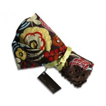 Chocolate Mocca Floral Stroller Blanket