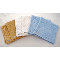 Deluxe Baby Boy Minky Dot Burp Cloth Gift Set