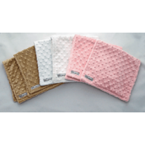 Deluxe Baby Girl Minky Dot Burp Cloth Gift Set