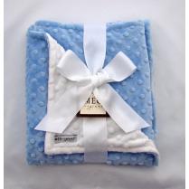 Light Blue & White Minky Blanket