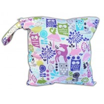 Orchid Whimsy Woods Baby Wet Bag Diaper Clutch