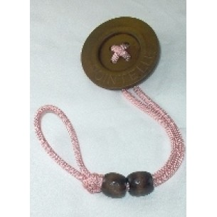 Pink Button Pacifier Holder Clip