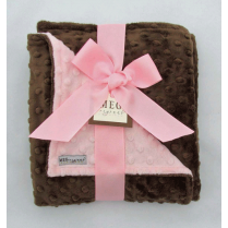 Pink & Brown Minky Blanket