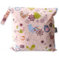 Pink Whimsy Starling Baby Wet Bag Diaper Clutch